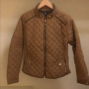 Jackets & Blazers - Tan quilted jacket
